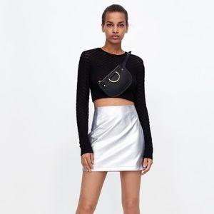 Zara Women's Metallic Mini Skirt Size S